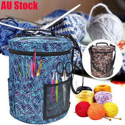 Woolen Yarn Storage Bag Knitting Crochet Ball Holder Tote Organizer Bag Basket