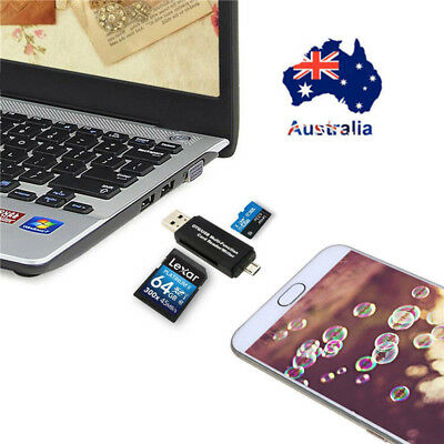 AU Multifunctional OTG USB Micro SD/HC TF Card Reader Writer For OTG Phone PC