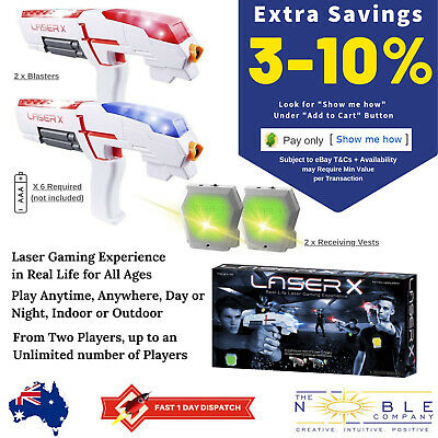 LASER X Double Pack 2 Player Laser Tag Outdoor Lazer Quest Birthday Party Game