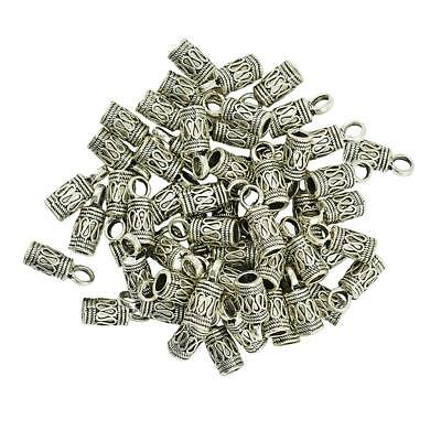 50pcs 4mm Silver Tassel End Caps Beads Stopper DIY Jewelry Making Findings