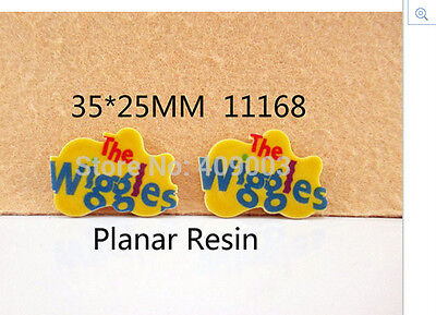 The Wiggles Planar Resin flatback 35 x 25mm (pack of 5)