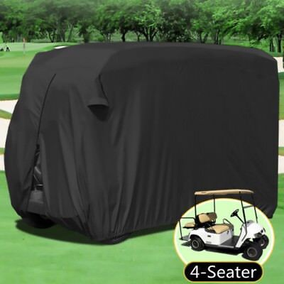Black M 4 Seater Passenger Golf Cart Cover Fit EZ GO, Club Car, Yamaha, Eagle