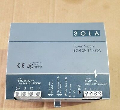Sola Sdn 20-24-480C Power Supply ( (In27S3)