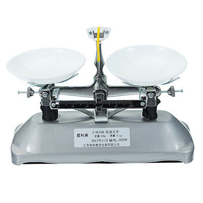 NEW! 100g/0.1g Table Balance Scale Mechanical Scale with Weights School Physics