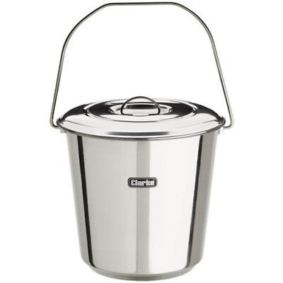Clarke CHT849 16ltr Stainless Steel Bucket With Lid  (Ref: 1801849)