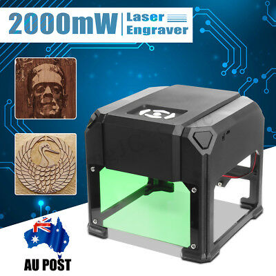 2000mW DIY USB Laser Engraver Printer Cutter Carver Logo Engraving Machine AU