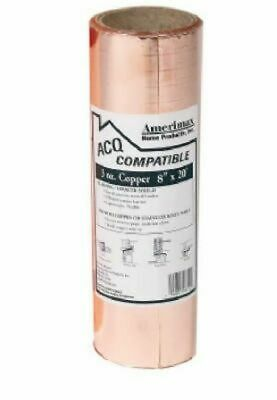 """Amerimax Home Products 850678 Laminated 8"""" X 20' Copper Roof Flashing"""