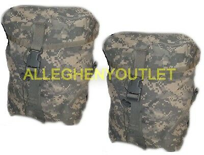 2 TWO SUSTAINMENT POUCHES MOLLE II ACU US ARMY Military Rucksack Back Pack EXC
