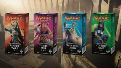 Magic The Gathering Challenger Deck set of 4 Factory Sealed Decks