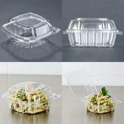 50 Pcs Solo Small Clear Plastic Hinged Party Salad Food Cake Container Take Out