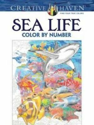 Creative Haven Sea Life Color by Number Coloring Book 9780486797953