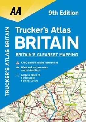 AA Trucker's Atlas Britain by AA Publishing 9780749578855 (Spiral bound, 2017)