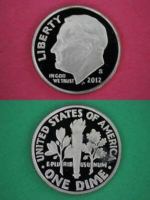 Silver 2012 S Deep Cameo Proof Roosevelt Dime Mirror Finish Buy 4 Get 1 FREE