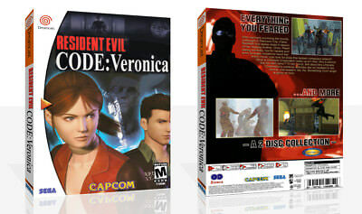 Resident Evil: Code Veronica Dreamcast Game Case Box + Cover Art Work No Game