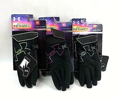 Under Armour Gloves Youth ColdGear Infrared Storm Gusto Added Grip Size Medium