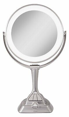 Zadro LVAR410 LED Light Dimmable Dual-Sided Vanity Mirror Satin Nickel