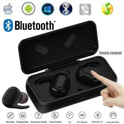 Mini True Wireless Twins Bluetooth Earbuds In-Ear Stereo Earphones Sport Headset