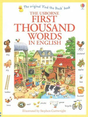 First Thousand Words In English by Heather Amery 9781409562894 (Paperback, 2013)