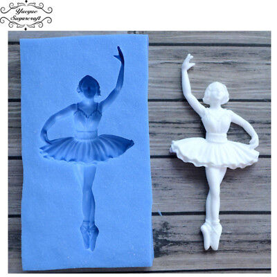 BALLERINA Party Silicone Mould Fondant Cake Decorating Topper