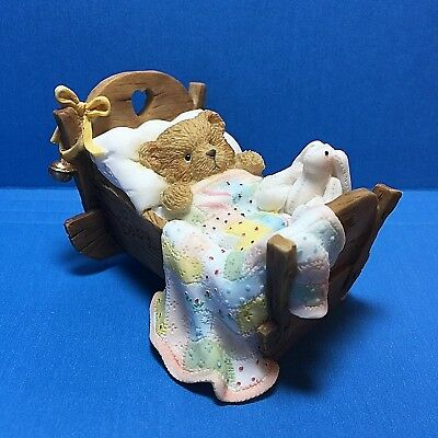 "Cherished Teddies ""Cradled WIth Love"" Figurine 1992  Enesco No.911356 Free Ship"