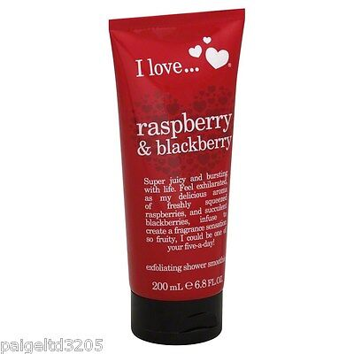 I Love...Raspberry & Blackberry Exfoliating Shower Smoothie 200 ml (6.8 fl oz)