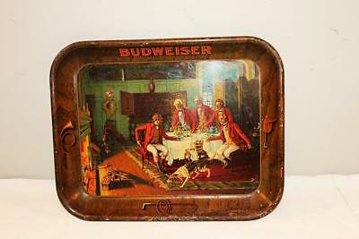 Vintage 1930s Budweiser Beer Tray Fox In The Fire Anheuser Busch Brg Co St Louis