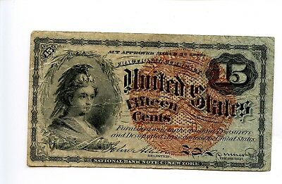 Fourth 4th Issue 15C 15 fifteen Cent Fractional Currency No Holes 1869 AA0930