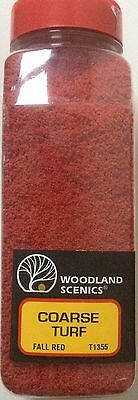 Woodland Scenics Coarse Turf Fall Red # T1355 Factory Sealed