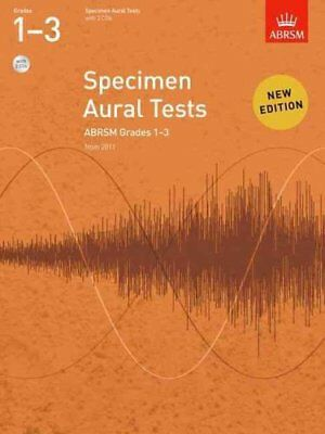 Specimen Aural Tests, Grades 1-3 with 2 CDs new edition from 2011 9781848492561