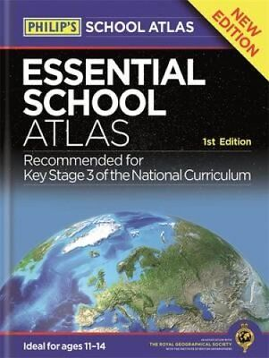 Philip's Essential School Atlas 9781849074063 (Hardback, 2016)