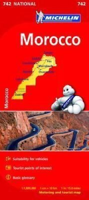 Morocco Map by Michelin 9782067202887 (Sheet map, folded, 2015)