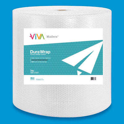 """Durawrap 3/16"""" Bubble Padded Wrap Roll 350' X 24"""" Non Perforated 350FT Small USA"""