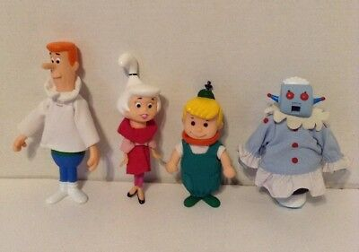 Vintage 1990 Jetsons Complete Set Of 4 Vinyl & Cloth Figures. Made By Applause.