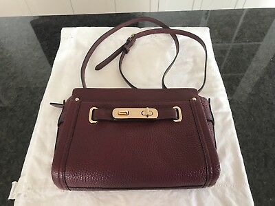 sports shoes modern and elegant in fashion get online NWOT COACH F35688 Blake Crossbody In Bubble Leather Merlot/Burgundy