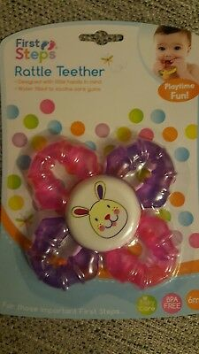 Brand New & Sealed - Water Filled Baby Rattle Teether