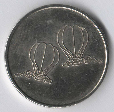Fun Scape Token With Baloons !!! White Metal *** 23Mm ** Very Nice