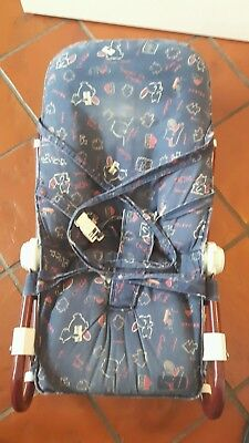 Tolle Bequeme Vintage Chicco Babywippe Schaukelwippe Wippe Jeansstoff