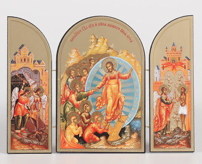 Easter Triptych - New Life in Christ - Resurrection Three Fold Icon by Sofrino