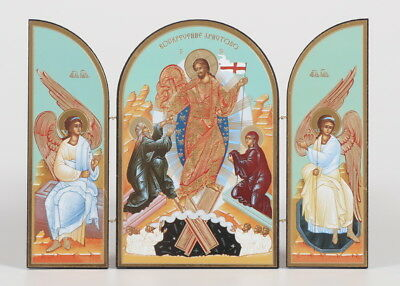 Christ the Victor - Resurrection Triptych Russian Icon - By Sofrino