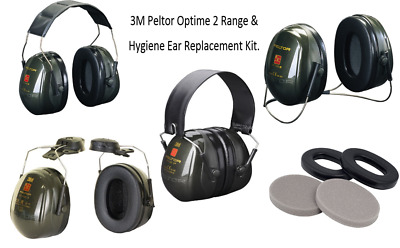 3M Peltor Optime 2 Ear Defender, Ear Muffs Range. SNR=31dB