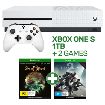 Xbox One S 1TB Console + 2 Games - Xbox One - BRAND NEW