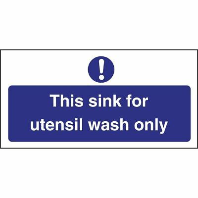 Vogue Utensil Wash Only Sign