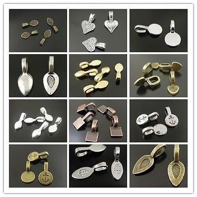 Vinage Alloy Multi-Colors Glue On Bail Charms Pendants Jewelry Supplies Hot