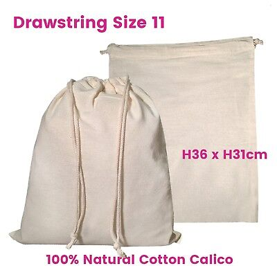 Calico Bag Drawstring Bulk Calico Bags Eco Bags Natural Bags S11 H36 x W31cm