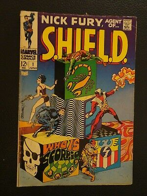 Nick Fury, Agent of SHIELD #1 (Jun 1968, Marvel)  VG 4.0