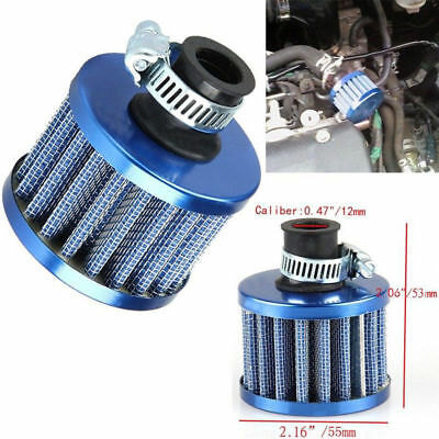 12mm Car Auto Motor Cold Air Intake Filter Turbo Vent Crankcase Breather Blue