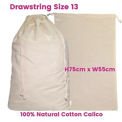 Large Calico Drawstring Bag Bulk Calico Bags Enviro Natural  S13 H75 x W55cm
