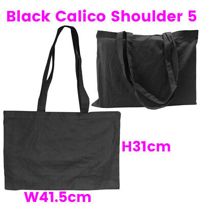 Black Shoulder Calico Bag Library Calico Bags S5 H31*W41.5cm Bag Lots 1-200