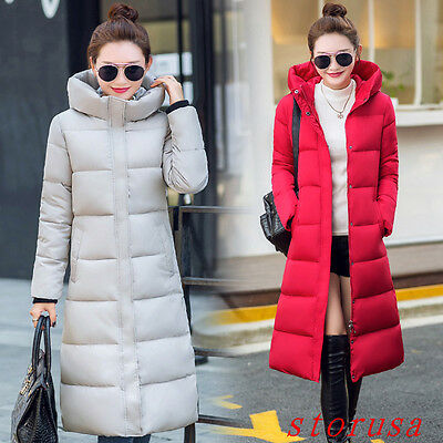 Thicken Women Lady Long Cotton Padded Coat Winter Warm Down Coat Size Fashion