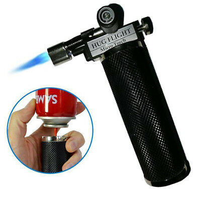 US stock Jet Torch Gun Lighter Adjustable Flame Windproof Butane Refillable BLK